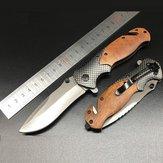 Conjunto de ferramentas de sobrevivência ao ar livre de lâmina dobrável de aço inoxidável X50 205 mm EDC Ferramenta de corte para escalada esportiva e caminhada