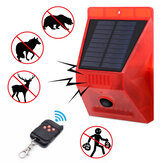 -N911C Solar Alarm Light IP65 Waterproof Remote Control Anti-animals Flash Warning Security Sound Light