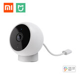 Xiaomi Mijia 1080P Caméra IP intelligente 170 ° AI Détection humaine IP65 Étanche IR Carte SD de vision nocturne infrarouge et stockage en nuage Moniteur d'interphone en temps réel