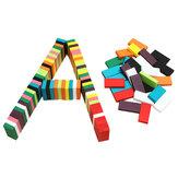 100 sztuk Wiele kolorów Autentyczne standardowe drewniane zabawki dla dzieci Domino