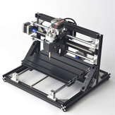 Black 2418 3 Axis Movable CNC Router Wood Engraver Milling Engraving Machine w/ 2500mW Laser Module