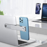Oatsbasf 2-IN-1 Dual Monitor Display Magnetic Aluminum Alloy Macbook Stretching Side Holder Mount for Samsung Galaxy S21 Mobile Phone Tablet