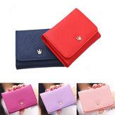 Women Lady Crown Short Mini Money Wallet Men Fold Bag Coin Purse Card Holder Wallets