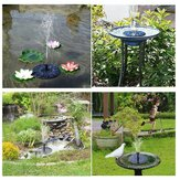 Outdoor LED Solar Powered Bird Bath Water Fountain Pump Voor Pool Garden Aquarium