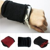 Original              Billetera Monedero Banda Fleece Zipper Running Travel Gym Ciclismo Safe Sport Wrist Wallet