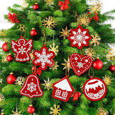 10PCS DIY Mix Shape 5D Diamond Painting Christmas Tree Hanging Pendant Full Drills Cross Stitch Xmas Ornament Gift Box Decorations