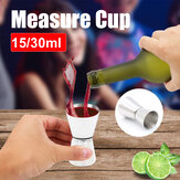 15/30ml Stainless Steel Measure Cup Drink Shot Ounce Jigger Bar Mixed Cocktail Tool