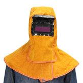 Deri Solar Otomatik Kararan Filtresi Lens Kaynak Koruması Boyun Maske Kask