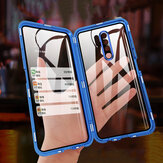 Bakeey for Xiaomi Redmi 9 Case 2 in 1 with Lens Protector Magnetic Flip Double-Side Tempered Glass Metal Full Cover Protective Case Non-original