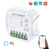 BlitzWolf® BW-SS7 ZigBee3.0 2300W Smart Light Switch Module 1 Gang / 2 Gang Wireless App Remote Control Jadwal Waktu Kontrol Suara Bekerja dengan Amazon Alexa dan Google Assistant