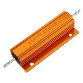 3 pcs RX24 100 W 10R 10RJ De Metal De Alumínio Caso de Alta Potência Resistor De Metal Dourado Shell Caso Resistor Resistência Do Dissipador