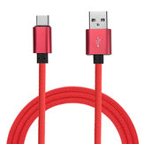 Bakeey Type C Braided Fast Charging Cable 1m For Oneplus 5 5t 6 Mi A1 Mix 2 Samsung S8 Note 8