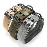 Collier de dressage de chien ajustable militaire tactique Nylon Laisse avec boucle en métal