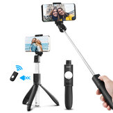ELEGIANT Extendable 2 in 1 bluetooth Remote Control Selfie Stick Mini Tripod with Adjustable Phone Holder