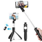 ELEGANTE Extensível 2 em 1 bluetooth Controle Remoto Selfie Varanda Mini tripé com suporte ajustável para telefone