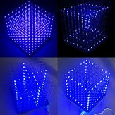 Geekcreit® 8x8x8 LED Cube 3D ضوء Square Blue LED Flash Electronic DIY Kit