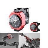 22-28 millimetri orologio del motociclo + termometro Supporto impermeabile luminoso impermeabile del manubrio