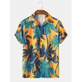 رجل عطلة جوز الهند شجرة طباعة قمصان هاواي