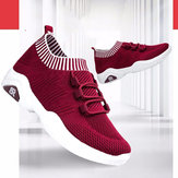 New Women's Shoes With Wear-resistant Sneakers Student Casual Shoes Flying Woven Cushion Socks Running Shoes