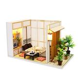 DIY Doll House Mini Creative Toy Assembly Cabin Puzzles Speelgoed voor kinderen Verjaardagscadeautjes