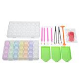 22Pcs 5D Diamond Paintings Embroidery Tool Storage Bag Box Pen Kits