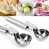 KCASA KC-IS01 Acier inoxydable Scoop Spoon Dig Spherical Ball Tool For Ice Cream Fruit Frozen Yogurt