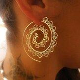 Retro spiraalvormige oorbellen in de vorm van een hart