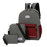 3PCS Laptop Backpack Bag Shoulder Bag Travel Bag Handbag With External USB Charging Port