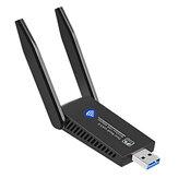 Adaptador Wi-Fi 802.11ac Dual 1300Mbps USB3.0 Banda 2 * 5dBi Antena Placa de Rede Sem Fio Receptor Transmissor WiFi Dongle