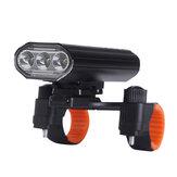 XANES® 3xT6 Lampada ricaricabile per bici Super Bright IPX6 impermeabile LED Faro per bicicletta 5 modalità Luce anteriore per bici Ciclismo TORCIA