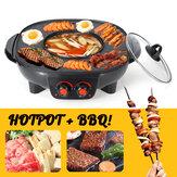 220 v Churrasco Elétrico Hotpot Forno Grill Forno Sem Fumaça Máquina Frigideira Forno PARA CHURRASCO