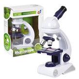 80X 200X 450X Yüksek çözünürlüklü Mikroskop Büyütme Kit Biyolojik Bilim Eğitici Oyuncaklar Çocuklar için Hediye