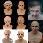 Cosplay Rubber Old Man Mask Realistic Scary Latex Mask Horror Headgear Cosplay Props for Adult Man Woman