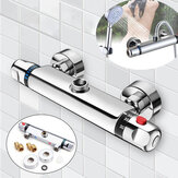 Bathroom Wall-mount Brass Thermostatic Shower Valve Bath Mixer Shower Control Valve Bottom Faucet 3/4