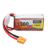 ZOP Power 11.1V 1300mAh 100C 3S Lipo Batería XT60 Enchufe para RC Racing Drone
