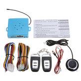 Sistema di accesso senza chiave PKE C5 per auto Pulsante di avviamento a spinta motore remoto Inizia con la luce di svolta