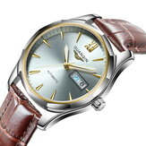 GUANQIN GJ16034 Vintage Business Luminous Week Display Calendar Waterproof Men Leather Strap Mechanical Watch