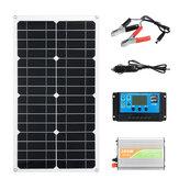 18V الشمسية القوة نظام الألواح الشمسية البطارية شاحن300W العاكس 10A مجموعة تحكم