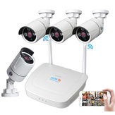 4CH WIFI Wireless CCTV Surveillance System Kit  1080P NVR IP Security Camera System Video Surveillance Kit