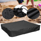 Green Sandbox Sandpit Cover antipolvere impermeabile con coulisse