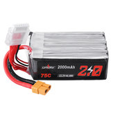 URUAV 22.2V 2000mAh 75C 6S Lipo Battery XT60 Wtyczka do RC Drone