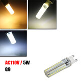 Dimmable G9 5W 72 SMD 2835 370Lm LED Ceramics Cover Corn Bulb AC 110V