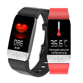 [Körpertemperaturmessung] Bakeey T1 Thermometer EKG-Monitor Herzfrequenz Blutdruck SpO2-Monitor Gesundheitswesen GPS Run Route Track Smart Watch