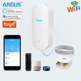 ANGUS SW100 Tuya Wifi Alarme de vazamento de água Detector de imersão em água Sistema de segurança de estouro de alarme de casa inteligente