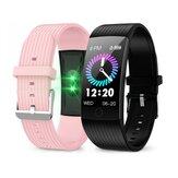 Newwear Q18 1.14 IPS Büyük Ekran Kalp Kan Basıncı Oranı Monitör Fizyolojik Hatırlatma Fitnes Tracker IP68 Su Geçirmez USB Şarjlı Akıllı Saat