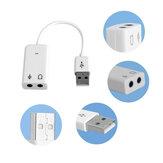 Bakeey 7.1 Canal Virtual Plug and Play sem adaptador externo USB 2.0 Placa de som de áudio Adaptador de placa de interface de 3,5 mm Placas de som