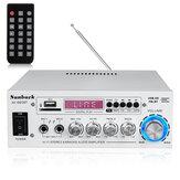 2000W Bluetooth 5.0 Amplificatore di potenza audio EQ Stereo AMP Car Home 2CH AUX USB FM SD