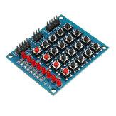 3 قطع 8 LED 4x4 إدفع زر التبديل 16 مفاتيح مصفوفة لوحة المفاتيح المستقلة ل avr ARM STM32