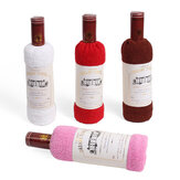34x72cm Boxed Cotton Absorbent Wine Shape Towel Festival Valentine Weeding Gift Party  Decor