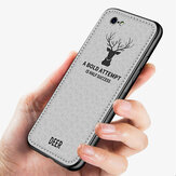 Bakeey Deer Pattern Classic Breathable Canvas Cloth Shockproof Protective Case Back Cover for iPhone SE 2020